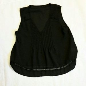 Black lace top, S or 6